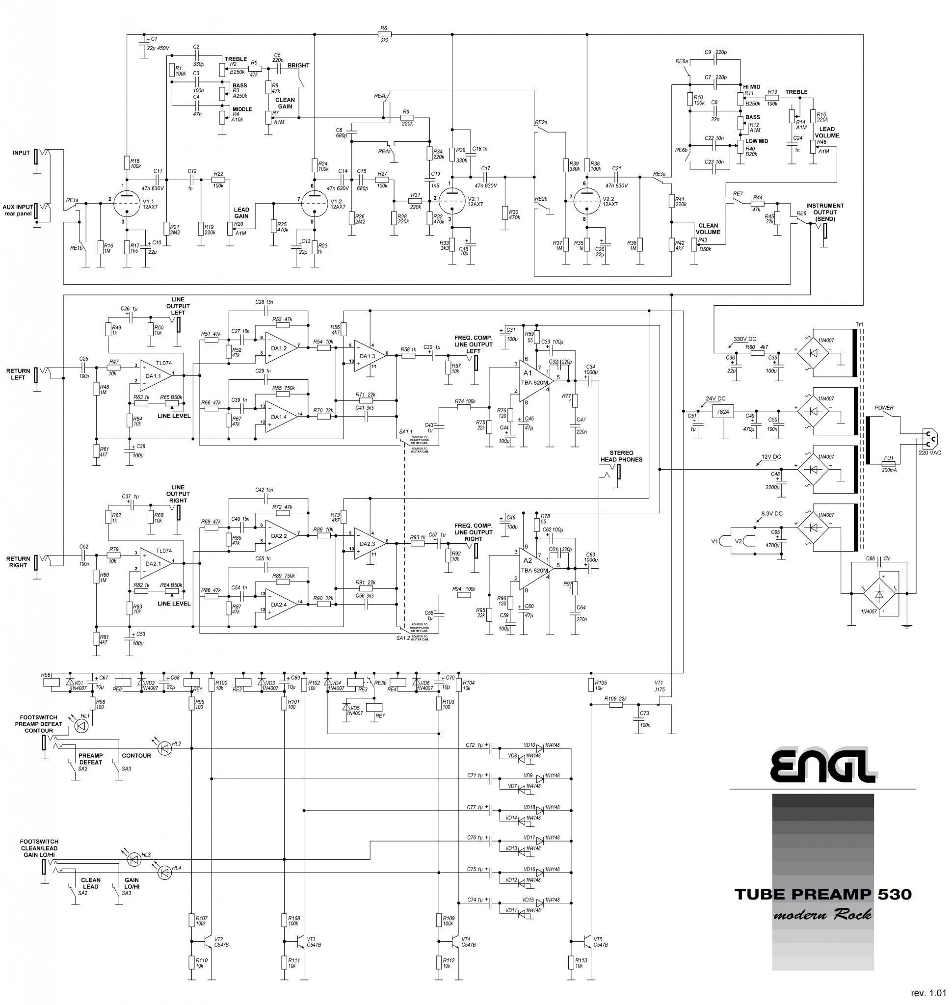 Guitar preamp e730. Гитарное оборудование каталог статей.