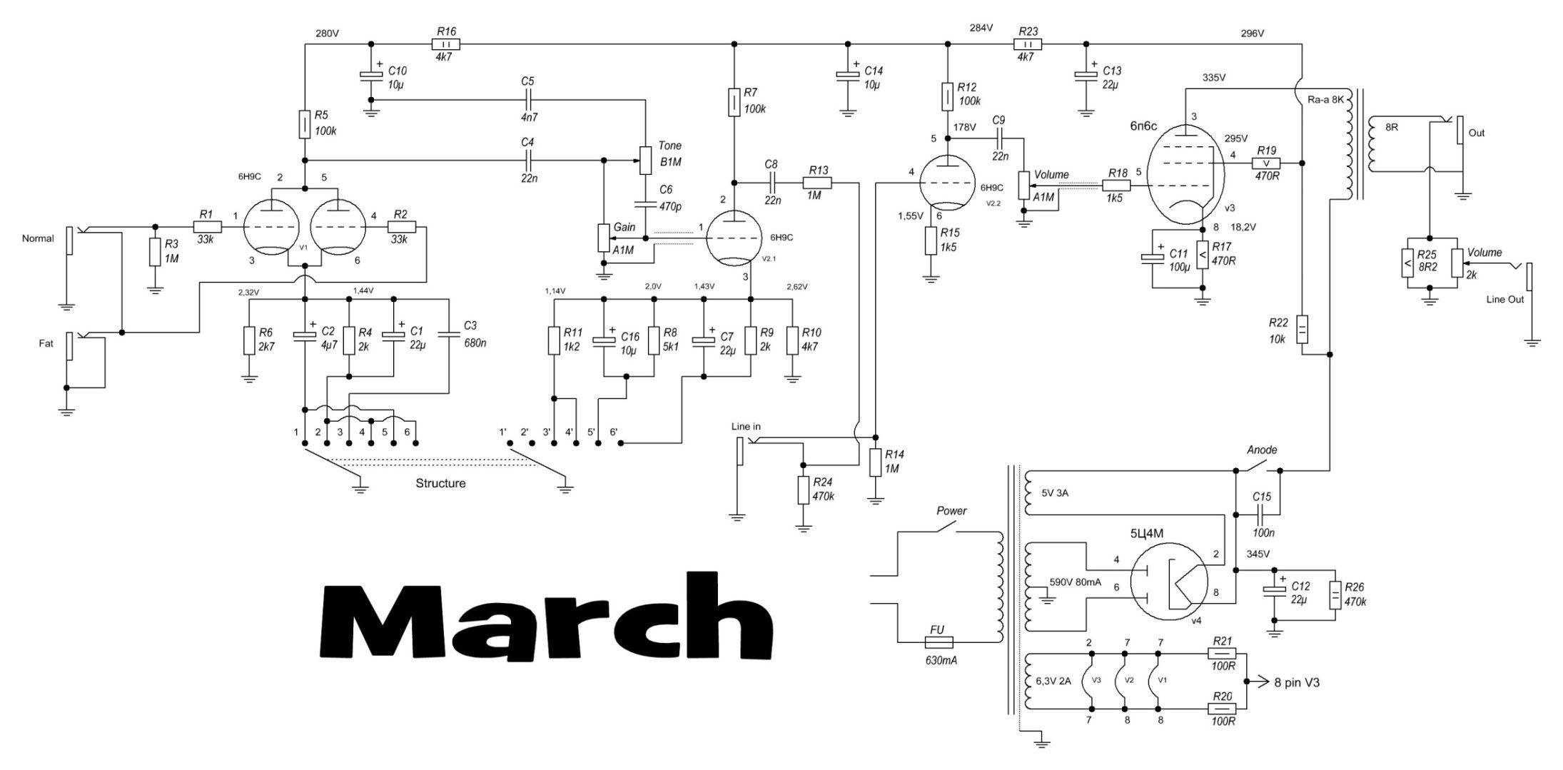 схема регулировки звука на одноканальный усилитель