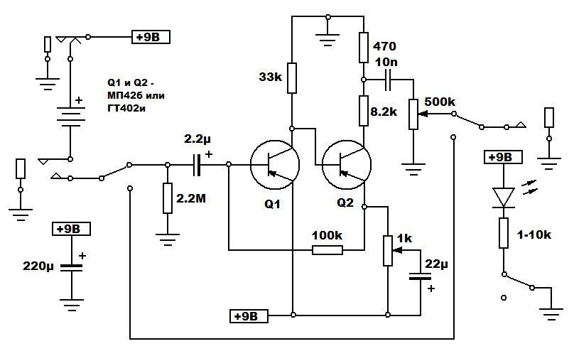 FuzzFace schematics Correct